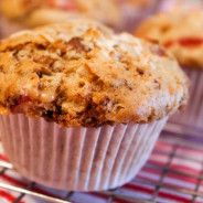 Strawberry Coconut Heath Muffins from The Salted Cookie