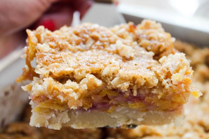 Spiralized Peach Pie Bars