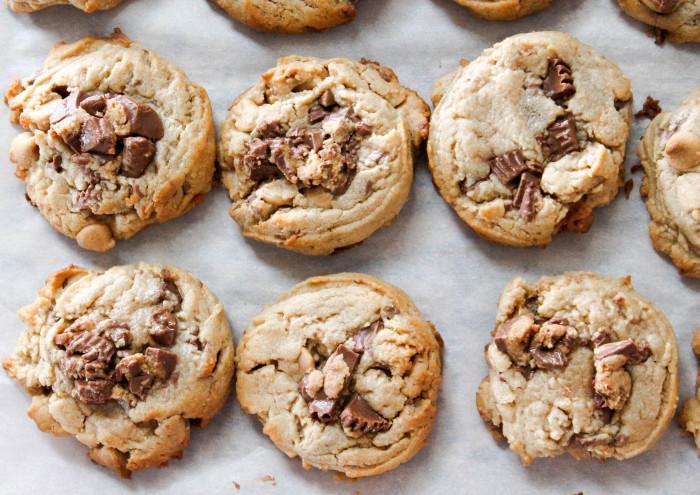 Triple Peanut Butter Cookies