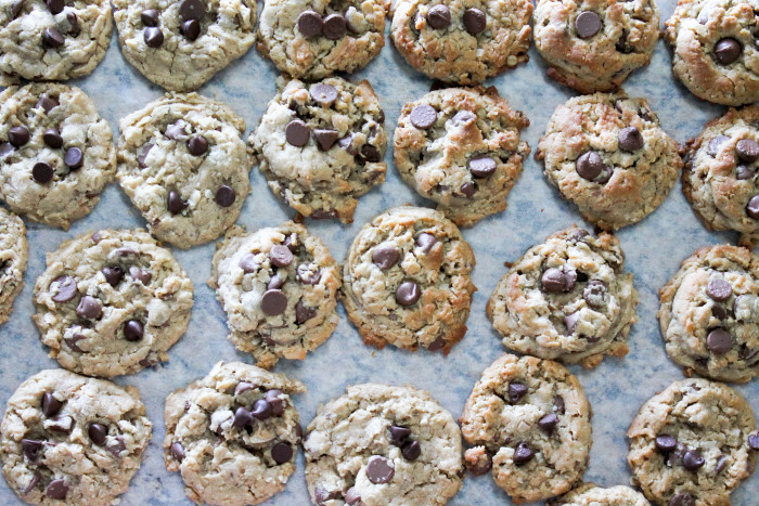Peanut Butter Chocolate Chip Oatmeal Coconut Cookies from The Salted Cookie