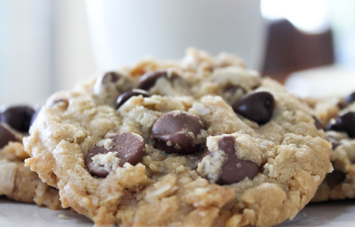 Peanut Butter Chocolate Chip Oatmeal Coconut Cookies-8