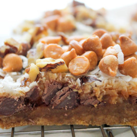 Pumpkin Magic Cookie Bars