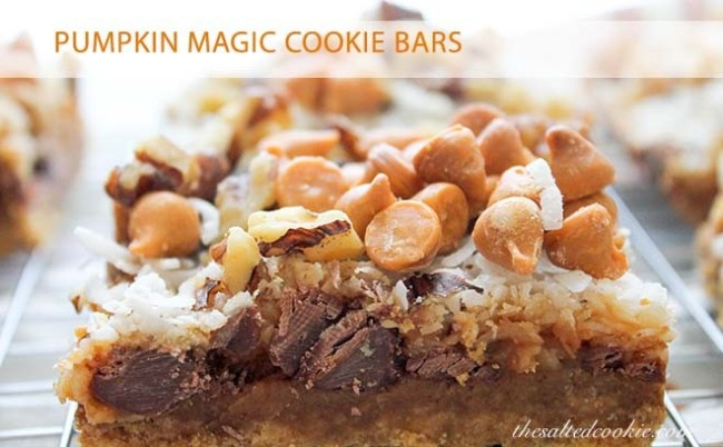 Pumpkin Magic Cookie Bars