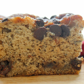 Chocolate Chip Cinnamon Swirl Banana Cake