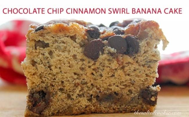 Chocolate Chip Cinnamon Swirl Banana cake