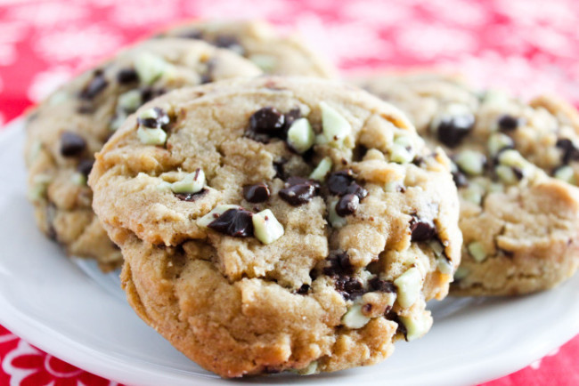 Browned Butter Andes Mint Cookies
