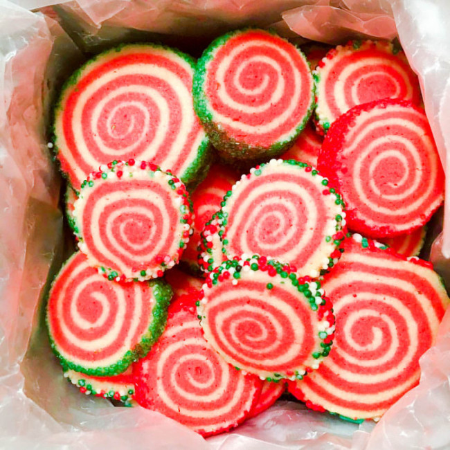 Peppermint Pinwheels – The Salted Cookie