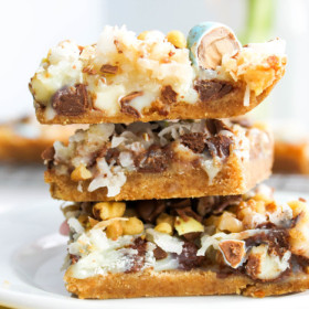 Cadbury Mini Egg Magic Bars from The Salted Cookie