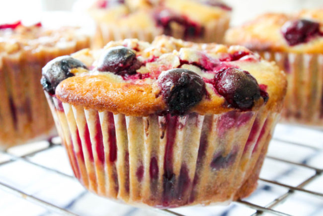 Cranberry Orange Streusel Muffins