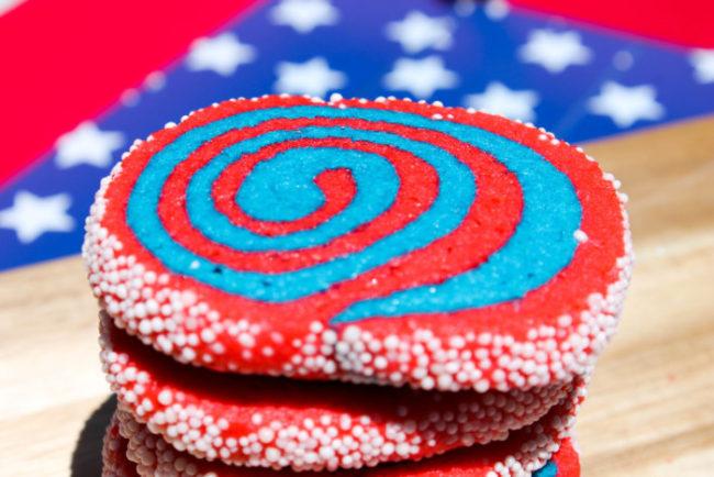 Firework Pinwheel Cookies – The Salted Cookie