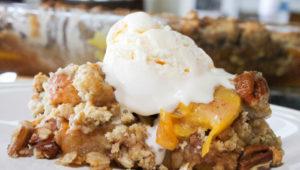 Gluten Free Peach Pecan Cobbler-4