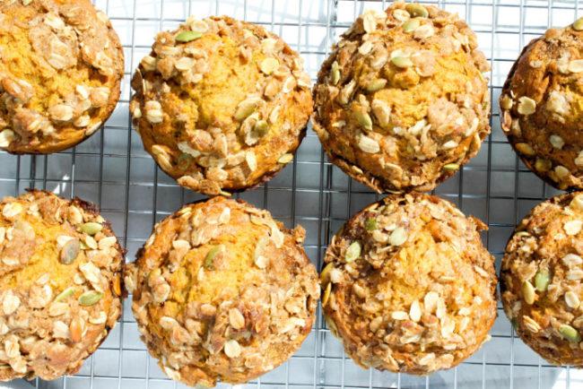 pumpkin-banana-muffins