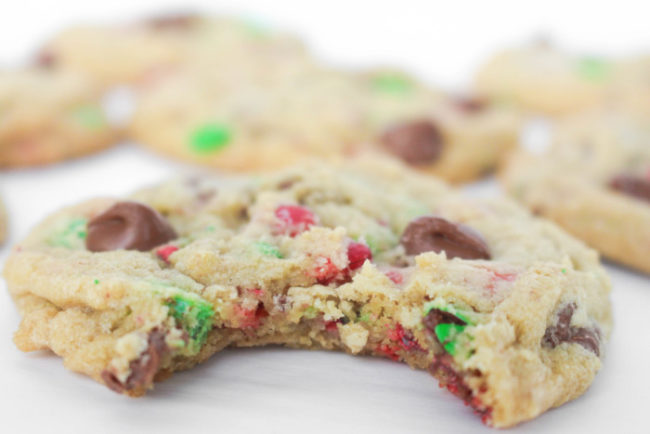 Holiday M M Chocolate Chip Cookies