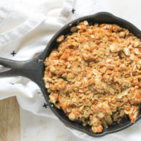 Mini Apple Crisp Skillet