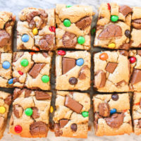 Salted Candy Blondie Bars